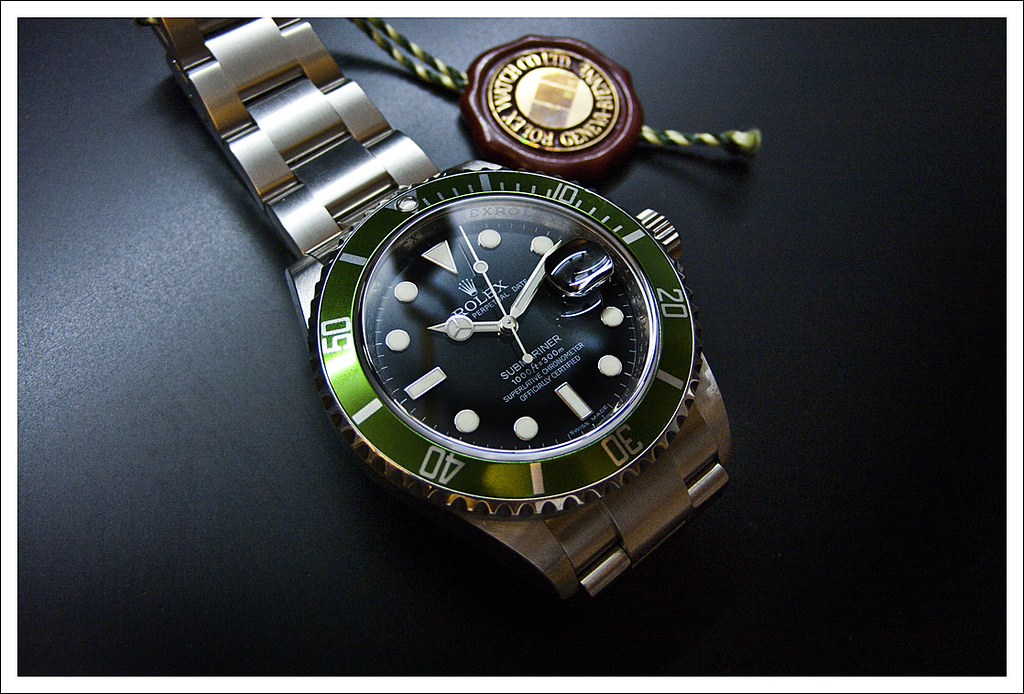 rolex 50th anniversary submariner green rolex 50th anniver flickr. Black Bedroom Furniture Sets. Home Design Ideas