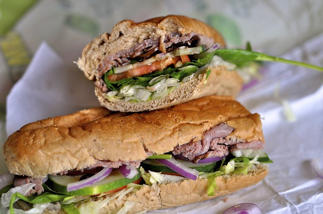 Subway Foot Long Roast Beef