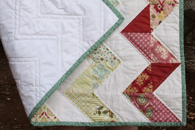 Hello Zig Zag Quilt Pattern : Hello Luscious Zig Zag quilt- backing Flickr - Photo Sharing!