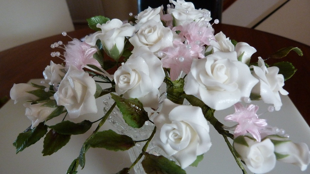 60th Anniversary Sugar Flowers 022 Making 60th Wedding Ann