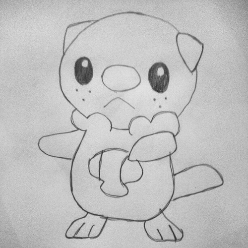 Oshawott Sketch Drawing Drawings Pokefan Pokesketch