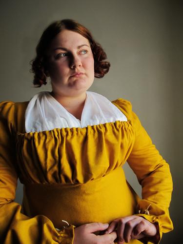 Yellow regency gown - 5