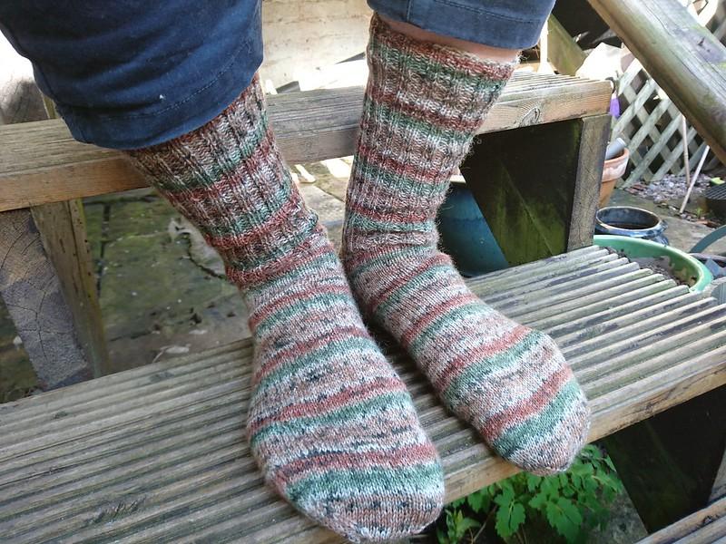 Handknit men's socks