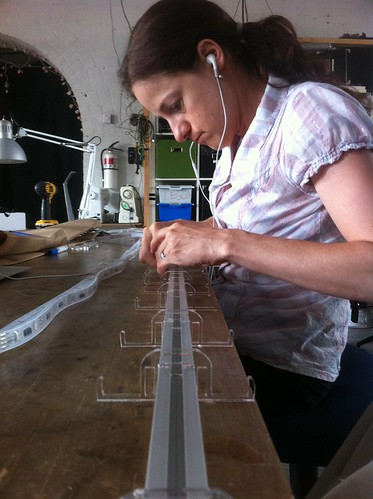 Aligning the acrylic standoffs | by hudson
