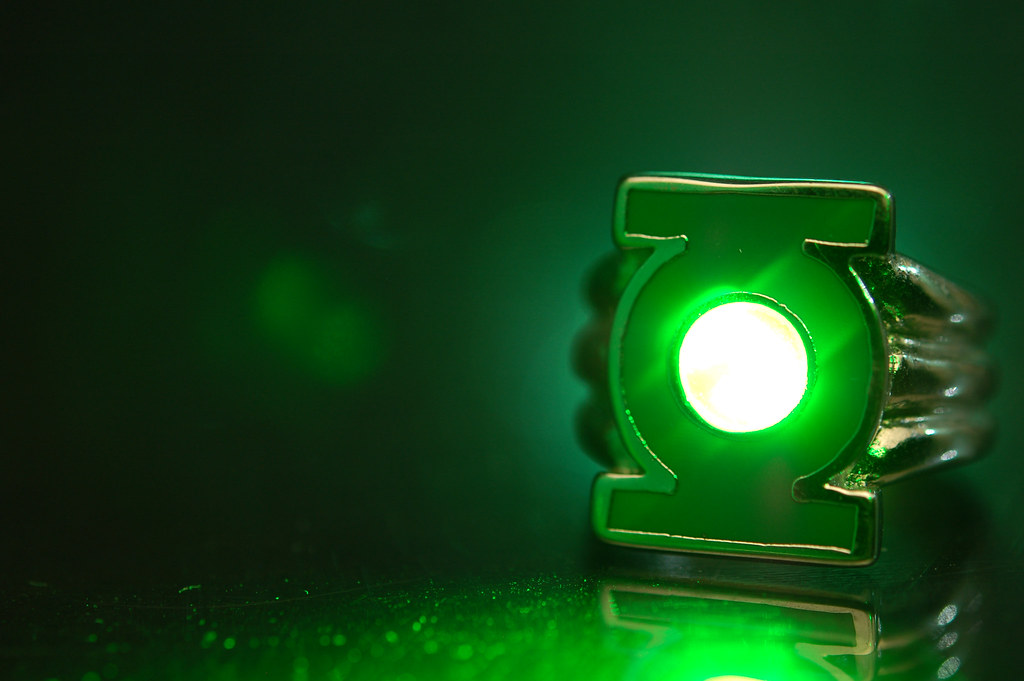 Green Lantern Ring And Lantern Replica