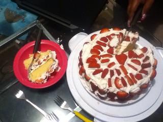 My Moms Homemade Birthday Cake