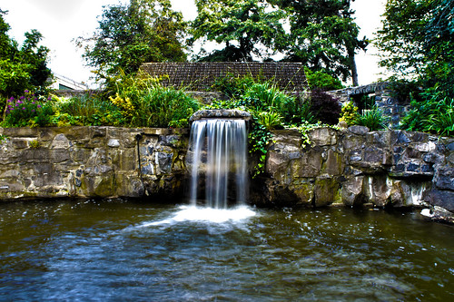 Waterfall in Harolds Cross Park HDR | by Jay Jay Kane