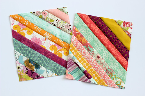 Paper Pieced Diagonal Stripes | by Jeni Baker | In Color Order