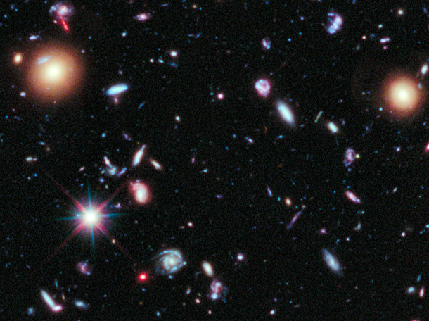 Hubble Extreme Deep Field detail | Detail of the Hubble ...