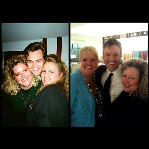 Me, Brian, and Mel. 20 years between these 2 photos! I think we've aged pretty well. Like a fine wine! Ha! | by GingerGE