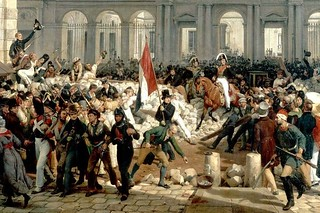Louis-Philippe d'Orléans leaving the Palais-Royal to go to the city hall, 31 July 1830, two days after the July Revolution by Horace Vernet | by Royal Opera House Covent Garden