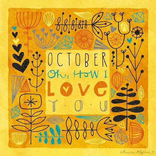 Hello, October  Claire Mojher  Flickr