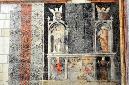 Peinture murale de la chapelle du ch teau d 39 angers flickr for Peinture nacree murale