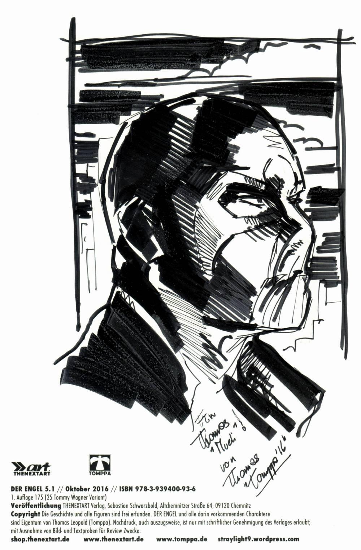 Meine Ausgabe ziert ein wunderbarer Sketch von Tomppa