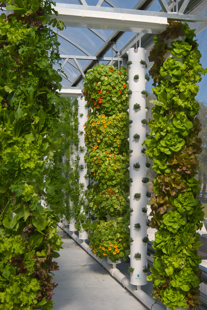 hydroponic tower garden. 12-foot Tower Gardens At Living Towers Hydroponic Farm | By LivingTowers Garden