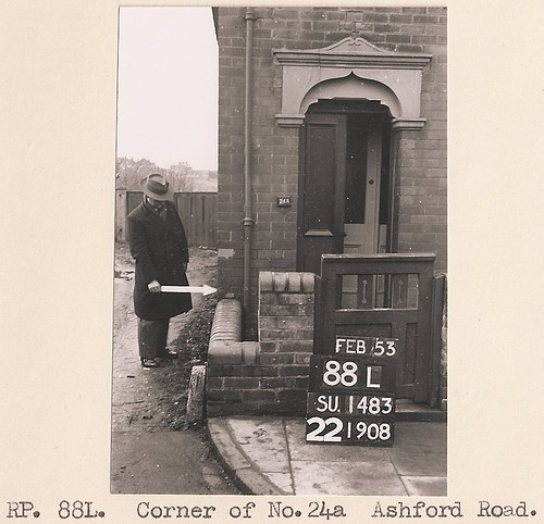 "1953: No.24a Ashford Road, Swindon (OS ""A Man with a Stick"" series) 
