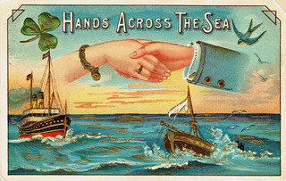 """Hands Across the Sea"" postcard #2 