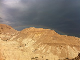 Desert Rainbow over the Dead Sea | by On Being