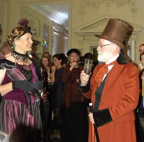 Philippa Dickinson and Terry Pratchett