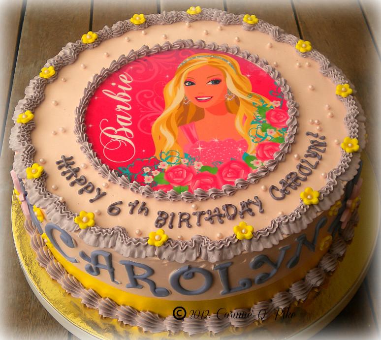 Barbie Chocolate Cake Images : Barbie birthday cake Chocolate cake with a Barbie edible ...