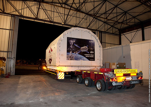 ATV-4 in transit | by ESA_events