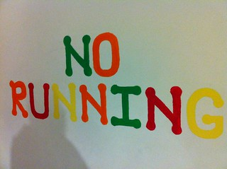 No running | by Eating The Week