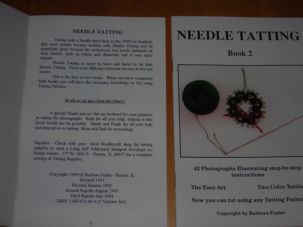 Dscn2211 Inside Cover Of Book 1 Needle Tatting By Barbara Flickr