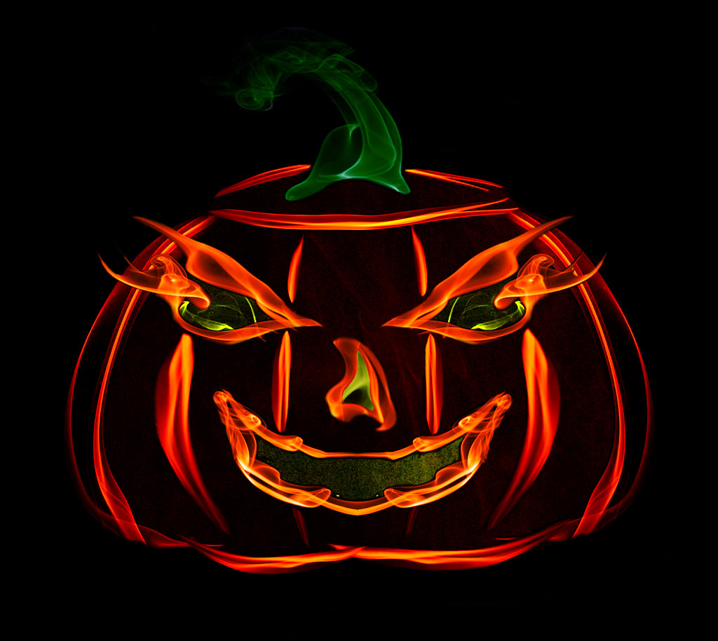Smoke art - Animated Jack-o-lantern | The animated gif is po… | Flickr