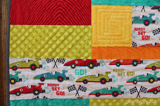 Zoom Zoom - Finished Quilt - Sarah Goer Quilts