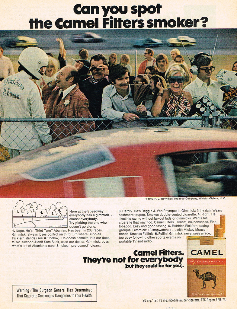 Vintage Ad #2,038: Can You Spot The Camel Filters Smoker