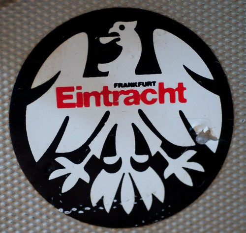 Frankfurt Eintracht sticker on vintage Canon camera/flight case | by whatsthatpicture