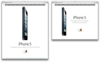 Apple's vertically fluid homepage to plug the tall iPhone 5 | by shawnblanc