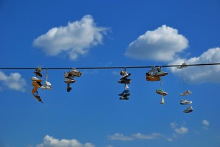 "Prague : ""Shoe tossing"" , Shoefiti in Prague  - Explore  #479  - 