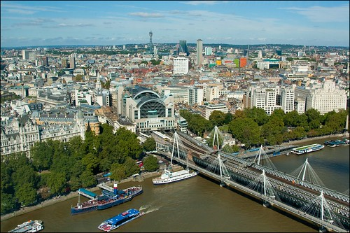 London Blick vom London Eye