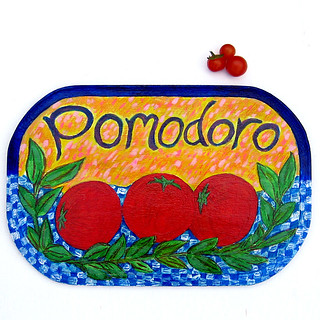 Pomodoro (Tomato) - Hand Painted Sign | by TamarHammer