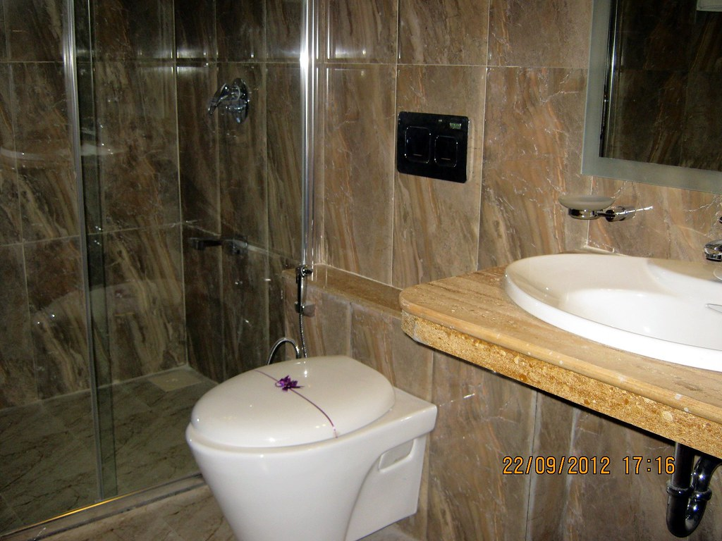 Bathroom Partitions Pune glass partition & quality sanitary fittings in master bath… | flickr