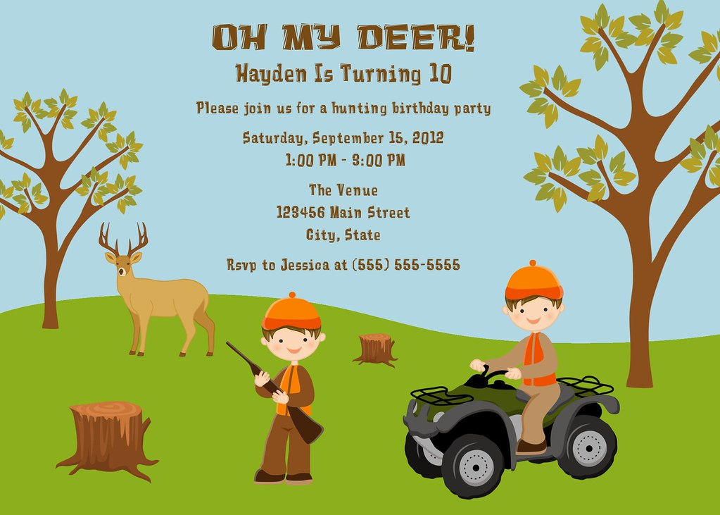 Hunting Birthday Party Invitation I have many more color o Flickr