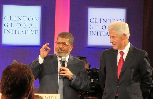 Egyptian President Mohamed Morsi and Former US President Bill Clinton | by WilliamKoenig