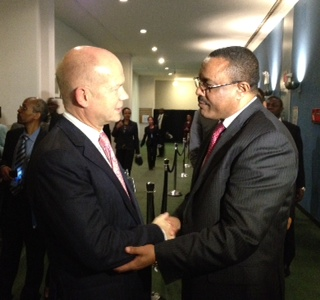 Foreign Secretary William Hague meeting the Prime Minister of Ethiopia Hailemariam Desalegn at the UN General Assembly | by UKUnitedNations