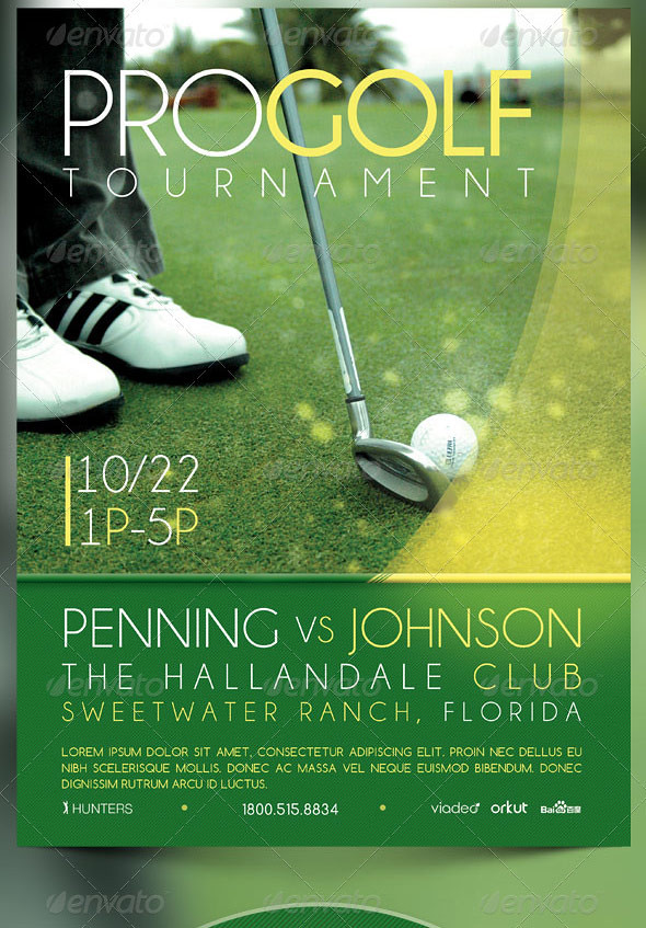 golf tournament event flyer and cd template the golf