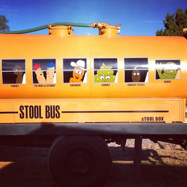 The Stool Bus was highly entertaining #youdumpityoupumpit ...