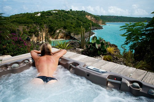 Chilling in the Hot Tub at Ani Villas, Anguilla | by Enjoy Patrick Responsibly