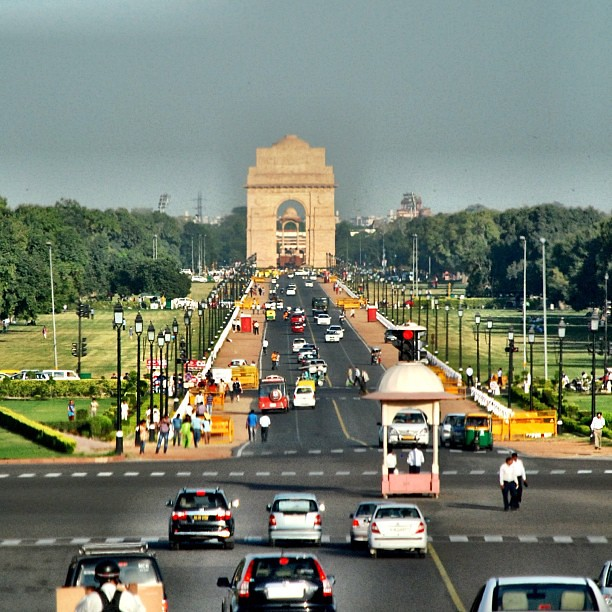 N85 Residence In New Delhi India: India Gate, From President House In New Delhi #india #newd