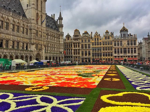 Alfombra de flores 2016 en la Grand Place de Bruselas