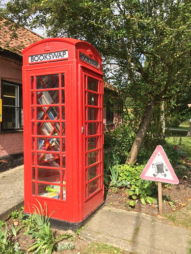 Thornham Magna telephone box book exchange *