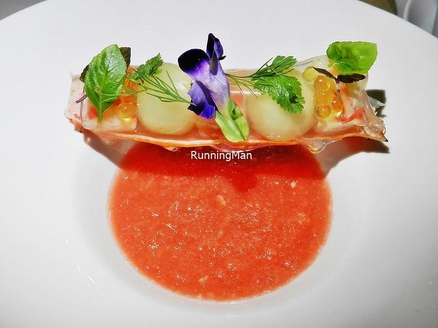 Hokkaido King Crab, Japanese Apple, Gazpacho, Yuzu Jelly