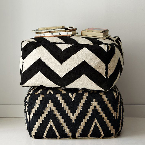 black & white poufs | by the style files