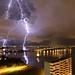 Lightning over the Julia Tuttle Causeway