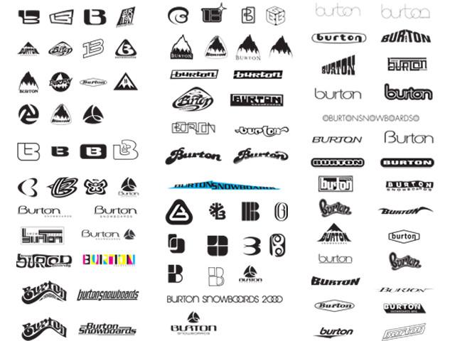 Logos Brands And Logotypes: Burton Snowboard Logo, Vintage