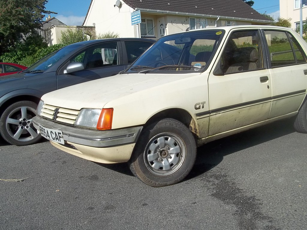 peugeot 205 gt got it at last i see this car once in a bl flickr. Black Bedroom Furniture Sets. Home Design Ideas